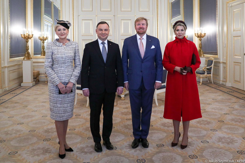 Spotkanie Agata Duda i królowa Maxima.